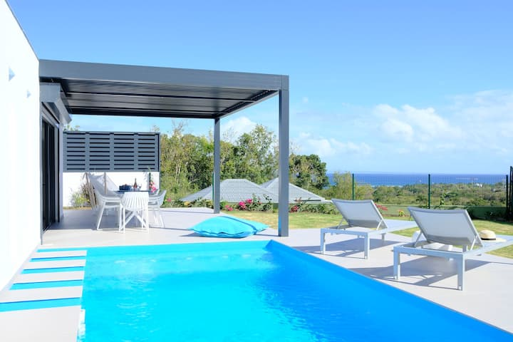 Tropic & Chic: villa Wow - private pool - sea view