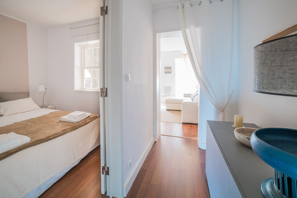 Corridor and twin bedroom