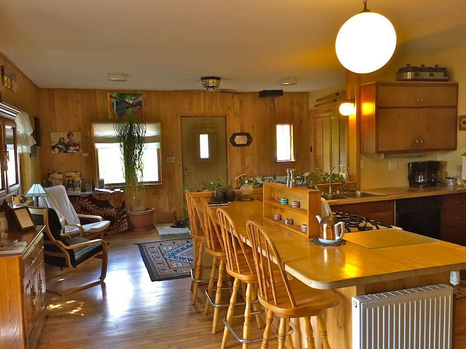 Beautiful Kitchen and sitting areas. Lots of windows.