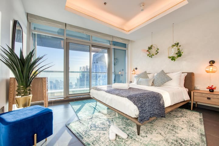 Stella Stays | 1BR on 78th Floor | Ocean & Dubai Marina Views