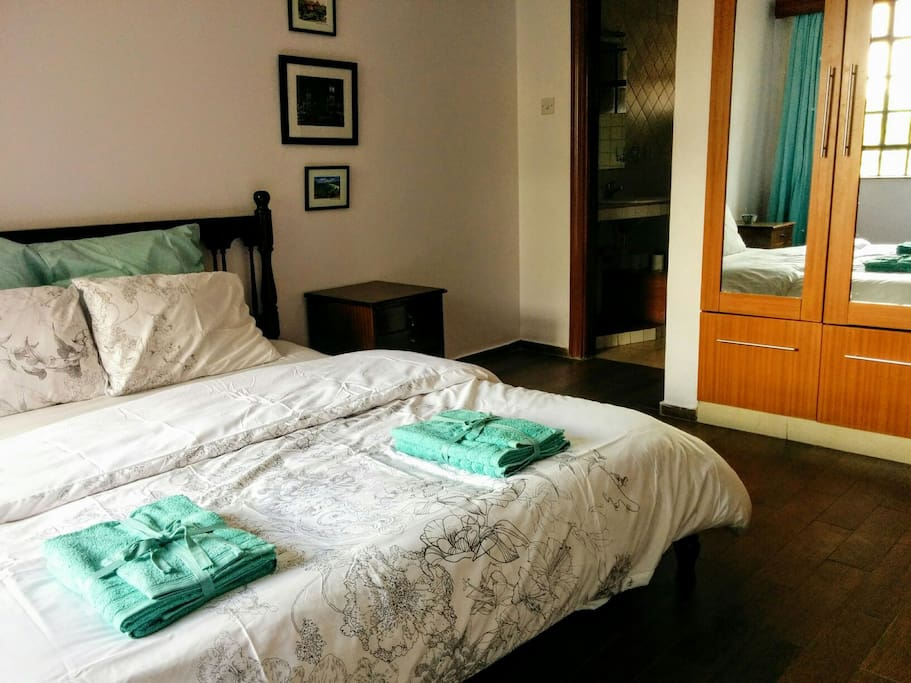 Linen and towels are provided as well as extra closet space.