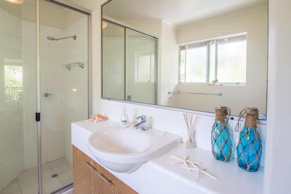 Spacious shower and private ensuite bathroom