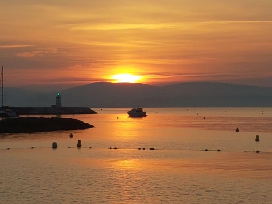 levée de soleil spectaculaire