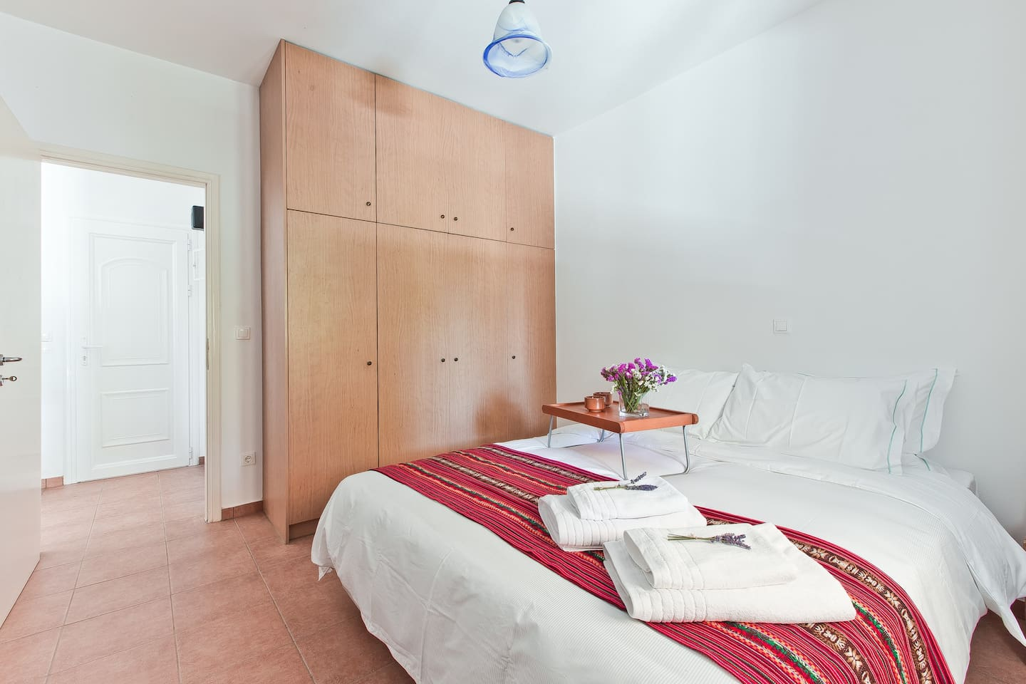 Bedroom with double bed 2.00 X 1.60 and closet