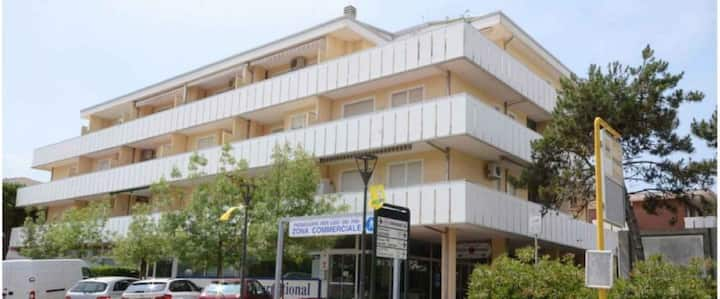 apt for 2+2 persons with a/c in Bibione R75862