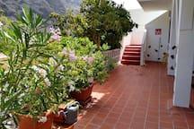 Terrasse u. Aufgang zur Dachterrasse