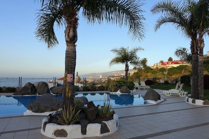 Nice holiday apartment with pool. - Puerto de la Cruz - Apartment