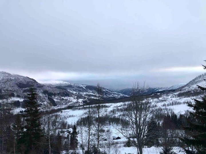 Nytt fint anneks i friluft og snø paradis