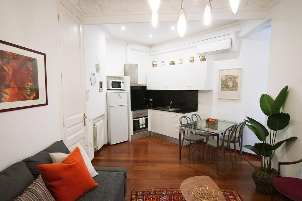 Modernist one bedroom apartment central eixample for Appartamenti barcellona eixample
