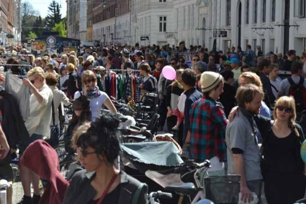 Flea market on the street