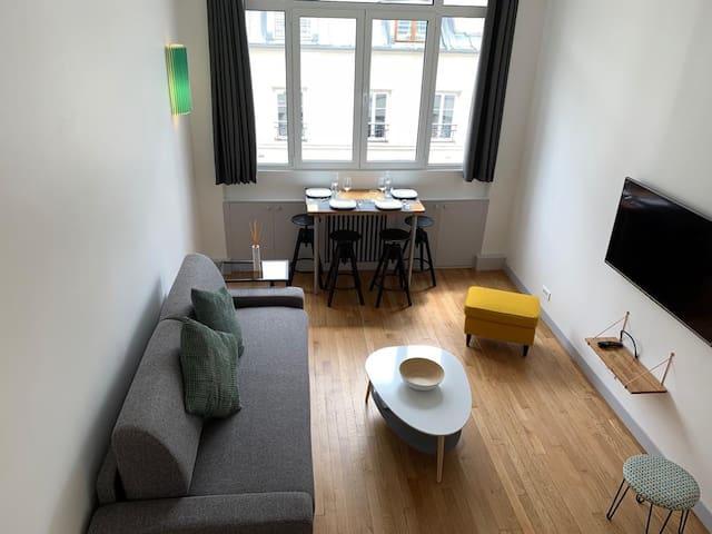 Superbe studio pour 4 personnes Paris centre