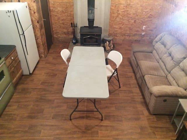 Kitchen & Living Room from Loft bedroom