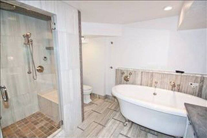 Lux Spa w/ Cedar Sauna Steam Shower and Jetted Tub