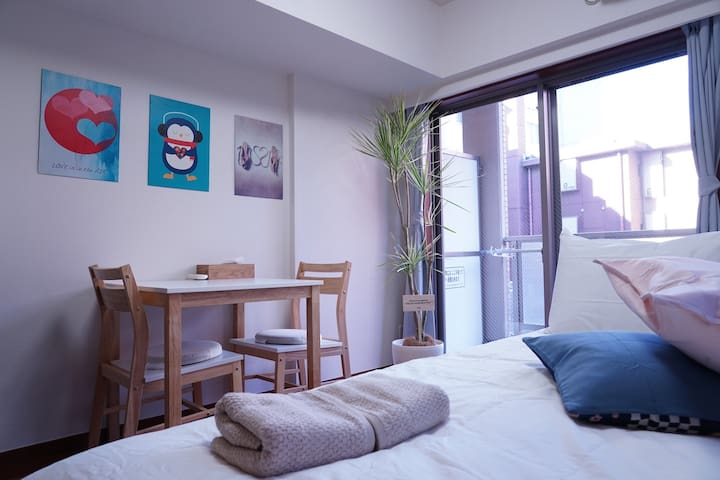 Compact and Cool apt in central Shinjuku