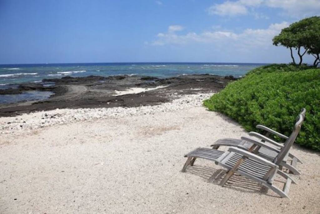 Private Beach with Chairs