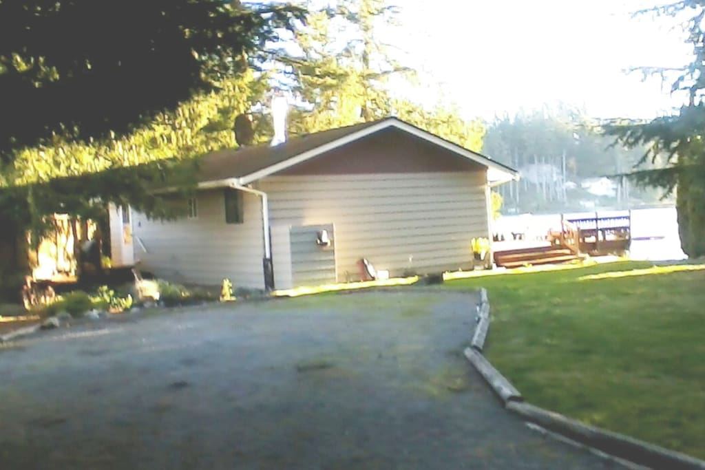 Side view from driveway