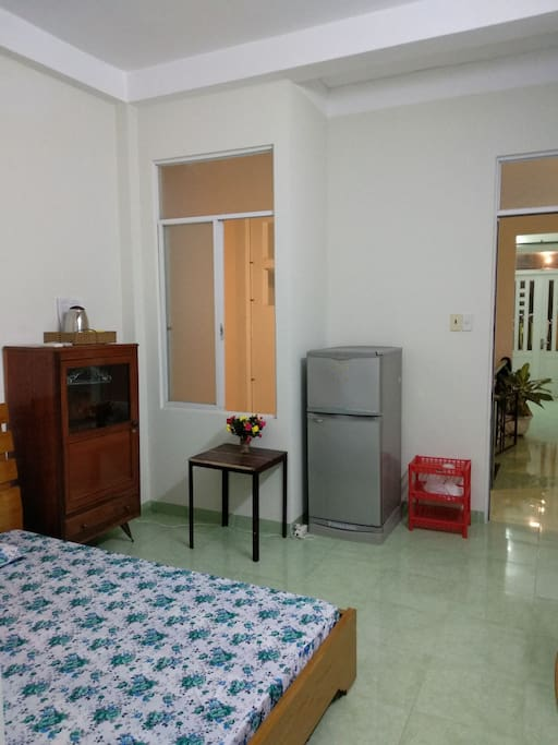 Bedroom with private toilet and washing mechine