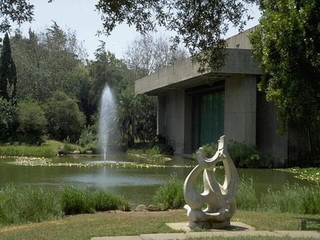 Gulbenkian Foundation garden across the road