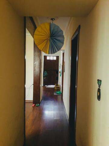 corredor de acesso aos quartos e sala 2