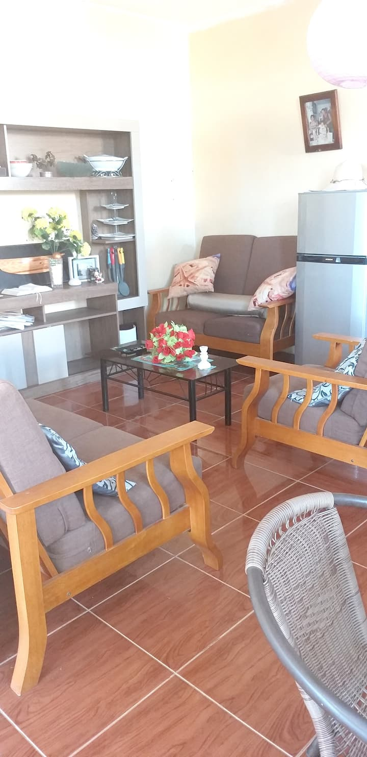 Apartment with 2 bedrooms in Mahebourg, with wonderful sea view, enclosed garden and WiFi - 200 m from the beach