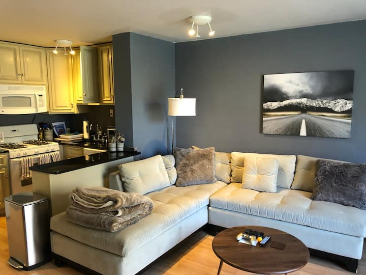 Prime Location, Modern Décor & Spacious 1 Bd Unit