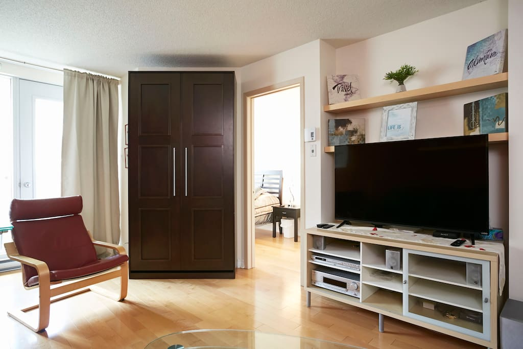 Living area - single bed hidden