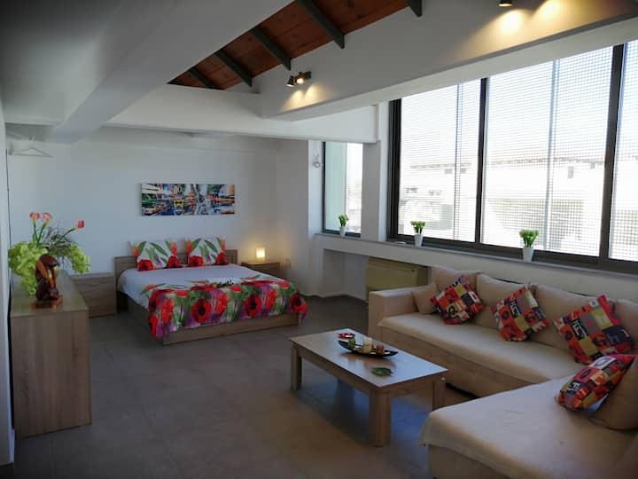 Modern & Spacious Studio Apartment near Airport