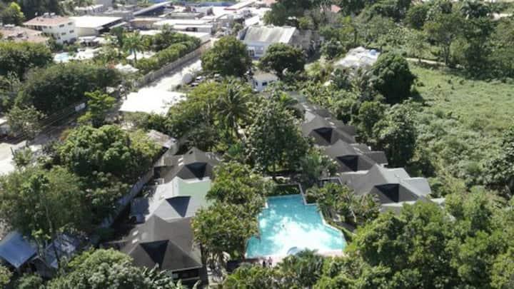Residencial privado a 3' playa piscina wifi seguri
