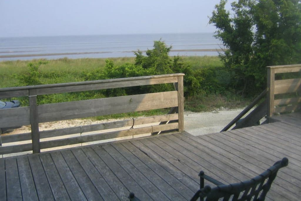 Dune and Delaware Bay from cottage deck