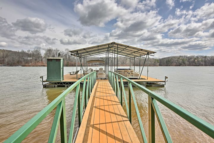 Located just steps from the lake, this Martin home features a dock and slip.
