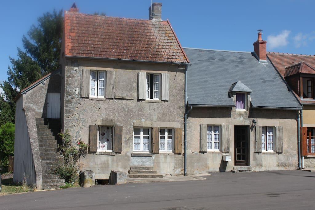 la façade des 2 maisons