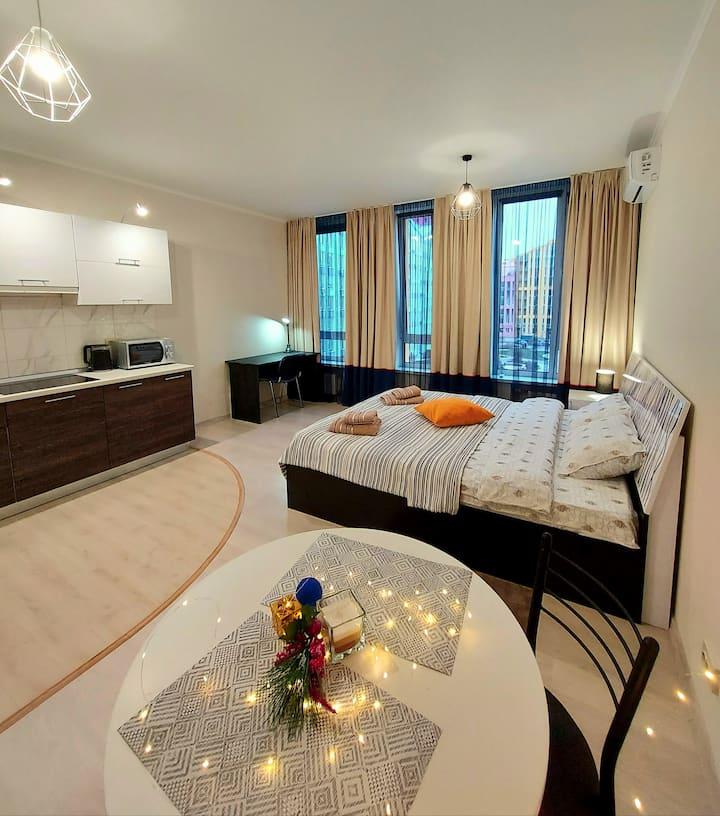 Стильная,тёплая, чистая квартира в ЖК Комфорт Таун