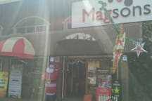 Magson super market on the way to the apartment
