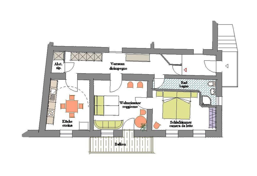 Grundriss der Wohnung - piantina