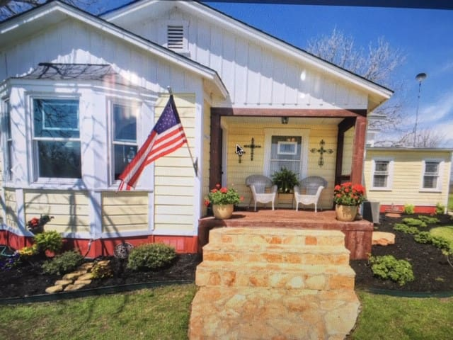This is Ol' Yellow built in 1946 and was moved to this location in 2008. This home and property has history and considered a landmark for many in the area of Lower Seguin