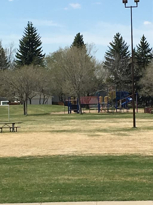 Would you like to work out? Huge playground across the street with Basketball hoops and much more