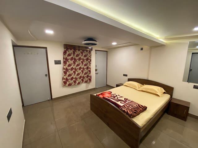 Bedroom No. 2 with En-suite Washroom No. 2 with Air Conditioner.