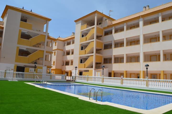 Penthouse, roof terrace, sea view, wifi, pool