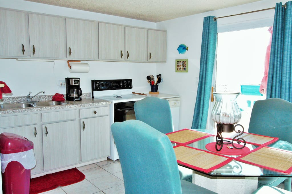 Stunning ocean views from the fully equipped  kitchen and living room