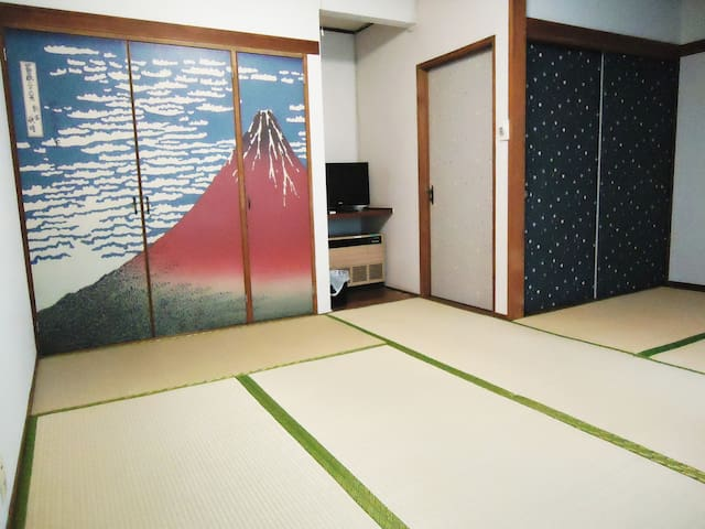 バス&トイレ付! 9畳和室★富士急8分  Private room w/ shower&toilet