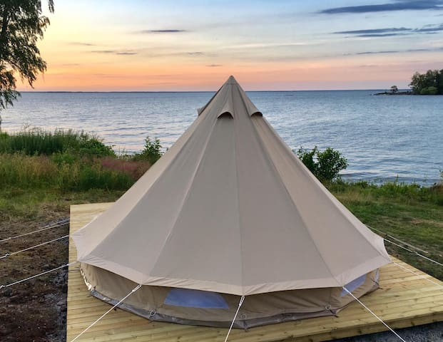Glamping in a beautiful location