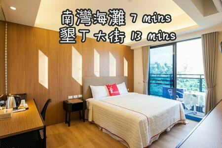 【可扣安心旅遊補助】SongPing INN二人房☀電梯・陽台・獨立衛浴