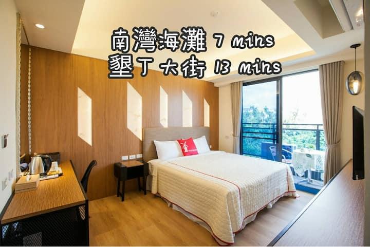 (接送免費)SongPing INN二人房☀電梯・陽台・獨立衛浴