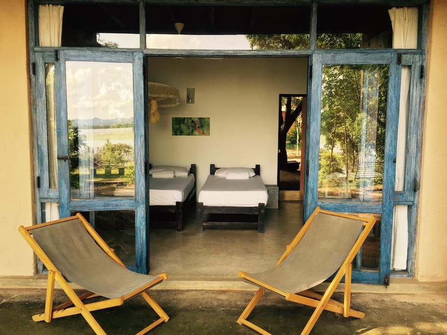 Private seating area and interior of rooms