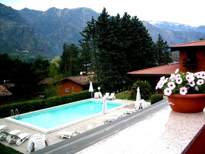 Villa (Casa D) on Lake Idro with Pool