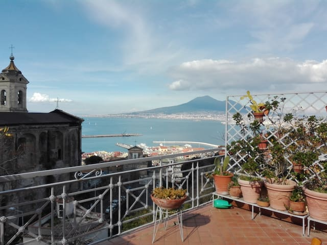 Terrace looking at the Vesuvius - Castellammare di Stabia - Apartment