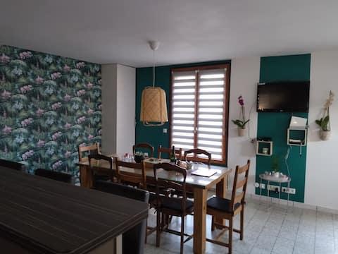 Maison familiale SPA et terrasse couverte 8 pers