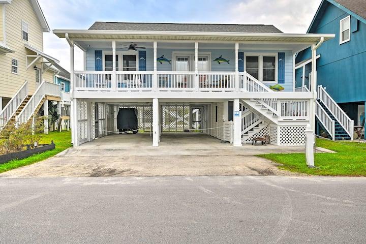 NEW! Murrells Inlet Home - Walk 1 Block to Ocean!