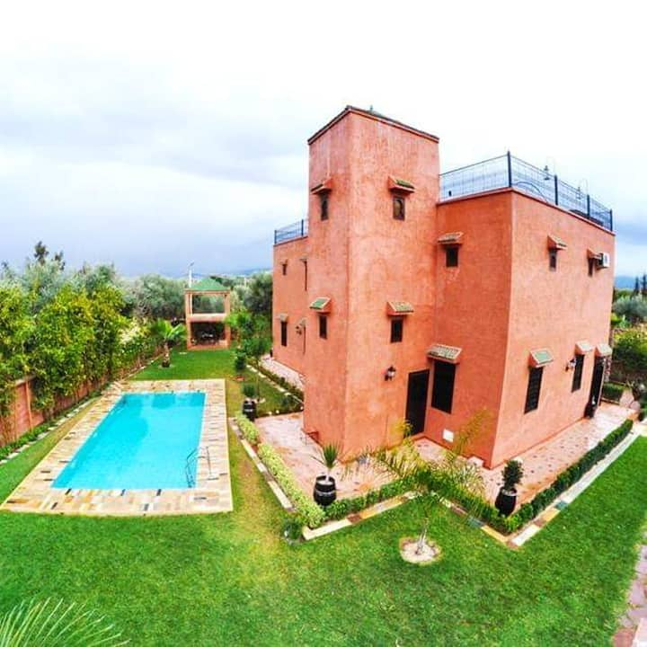Villa with 3 bedrooms in Aghmat, with wonderful mountain view, private pool, enclosed garden