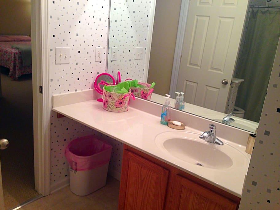 Full Bathroom across from room.